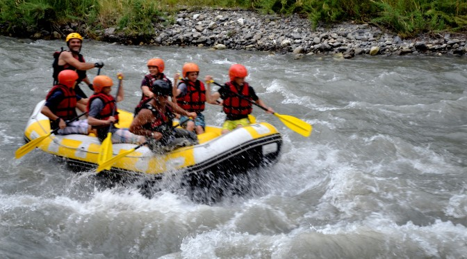 Befriending with Georgian rivers: Rafting at Aragvi
